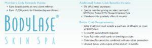 Botox Membership Benefits