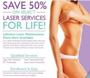 Lifetime Maintenance Plan for Laser Hair Removal